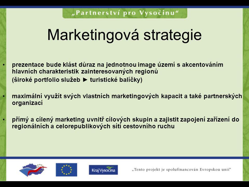 Marketingová strategie prezentace bude klást důraz na jednotnou image území s akcentováním hlavních charakteristik zainteresovaných regionů (široké po