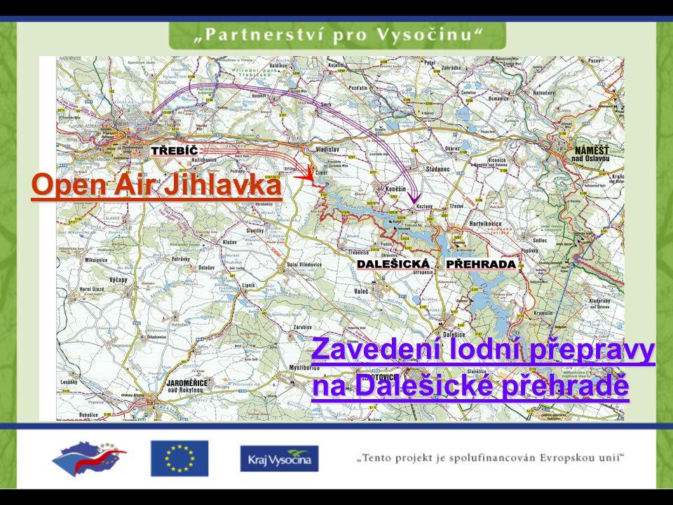 Open Air Jihlavka PODZÁMECKÁ NIVA SMĚR PLAVECKÝ AREÁL POLANKA ŽIDOVSKÁ ČTVRŤ Bazilika Sv.