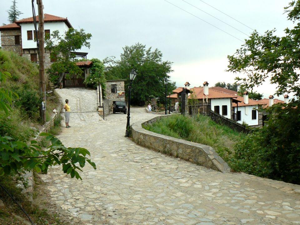 Ale je tam teplo a moc lidí. A tak jsem se rozhodl, že si koupím domeček ve vesničce pod Olympem… …navštívil jsem malou vesničku…
