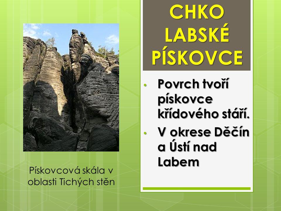 TISKÉ STĚNY Pískovcová skalní oblast.Pískovcová skalní oblast.