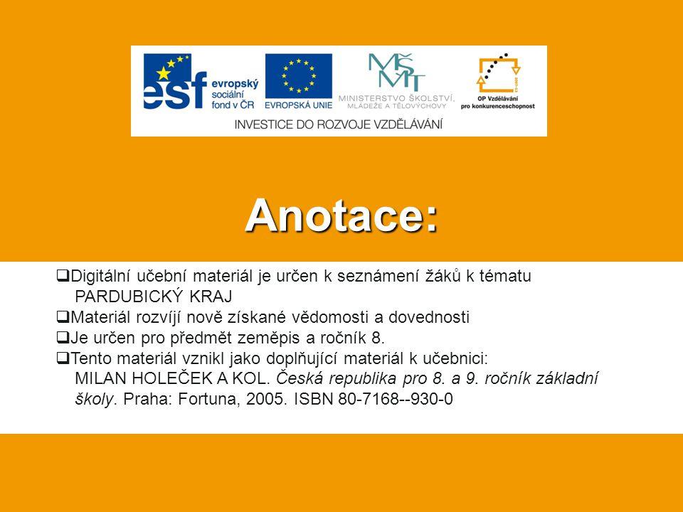 Zdroje: Pardubice Region CoA CZ.svg.In: Wikipedia: the free encyclopedia [online].