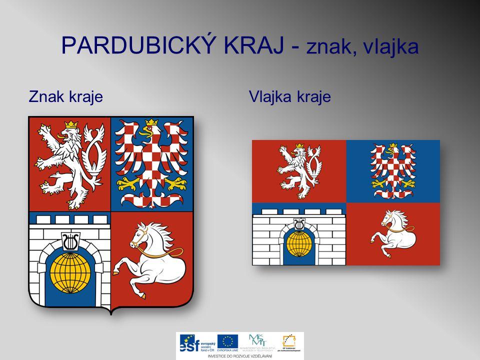 PARDUBICKÝ KRAJ - znak, vlajka Znak krajeVlajka kraje