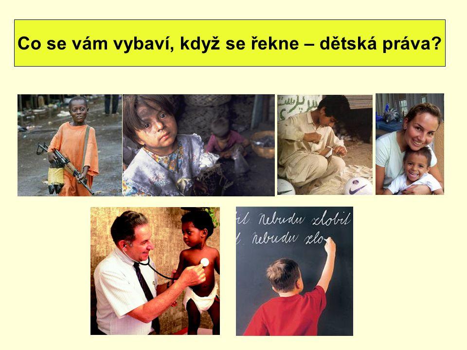 dětská práva vychází z Deklarace práv dítěte, z roku 1959 20.