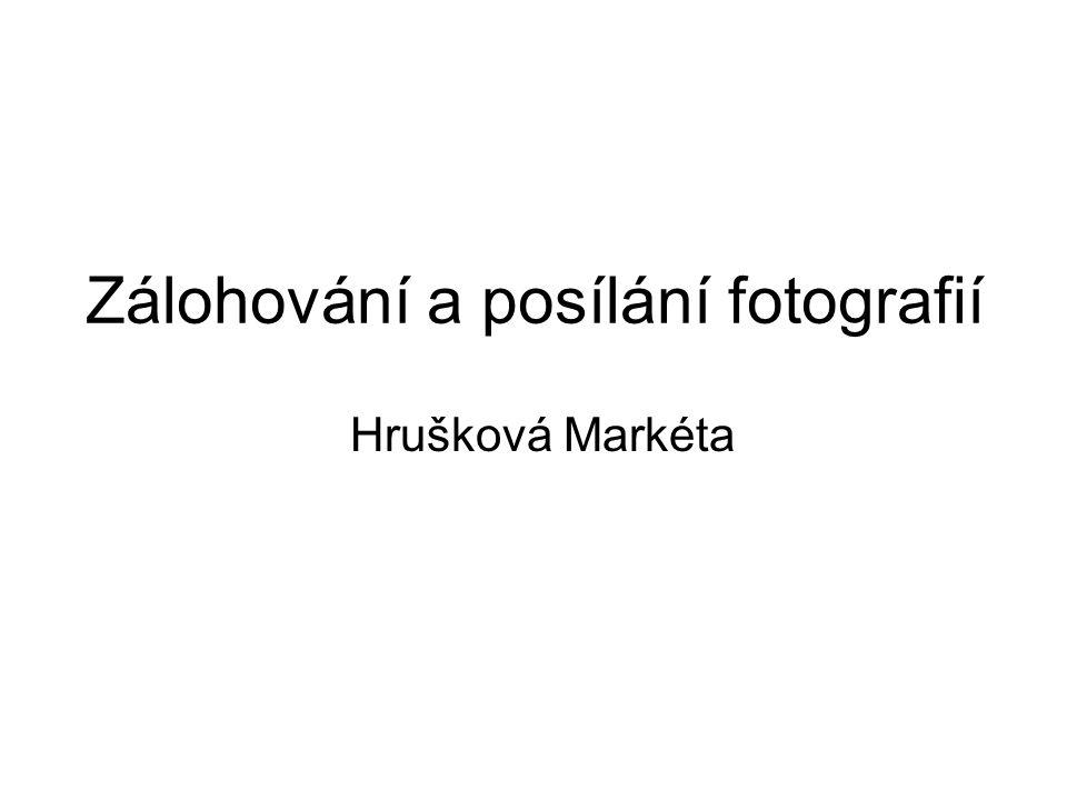Zálohování a posílání fotografií Hrušková Markéta