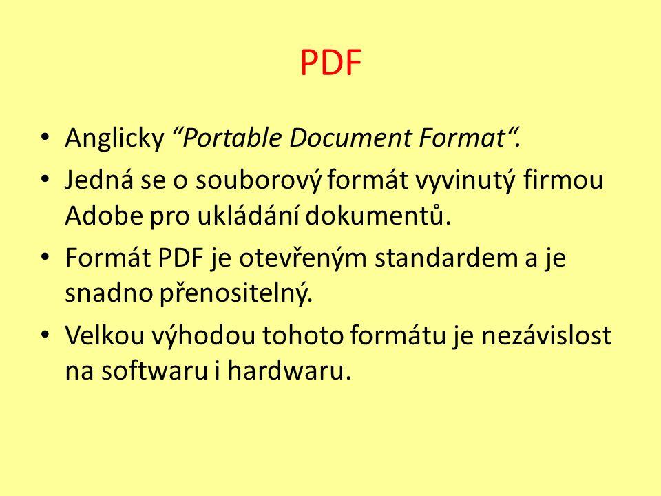 Kdy převádíme prezentaci do PDF.Např.