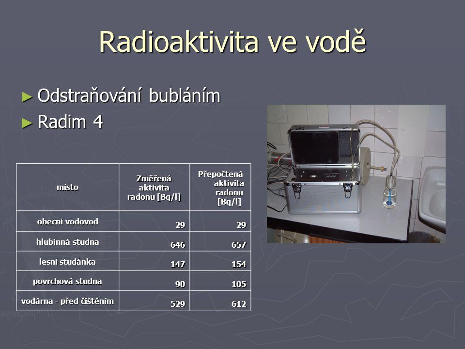 Radioaktivita v ovzduší ► Ve vzduchu téměř nulová ► Radim 3 ► PSDA ► Ionizační komora