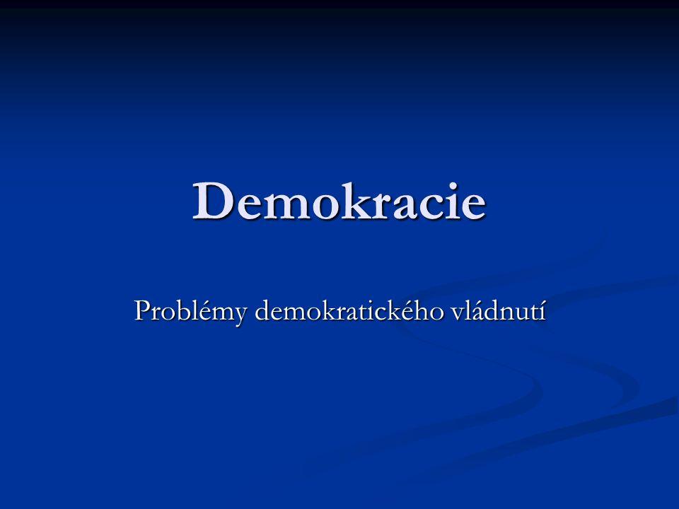 Polyarchie 1.Volení úředníci 2. Svobodné a spravedlivé volby 3.