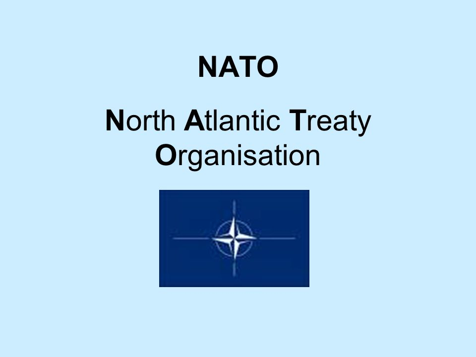 NATO North Atlantic Treaty Organisation