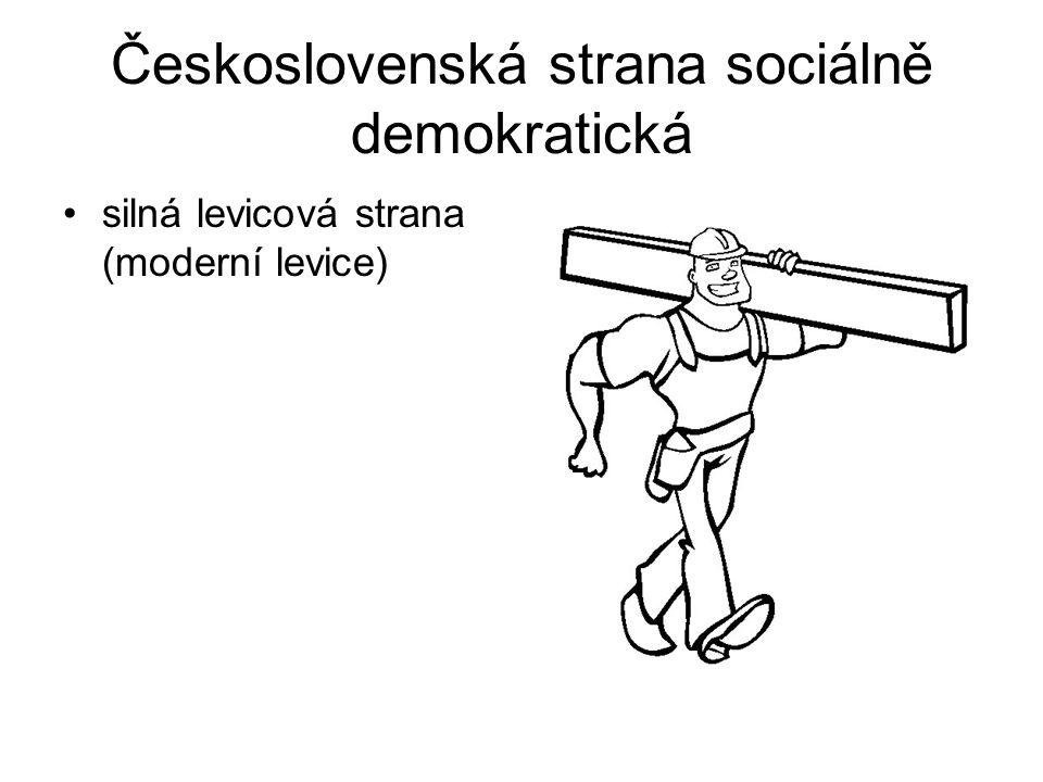 Československá strana sociálně demokratická silná levicová strana (moderní levice)