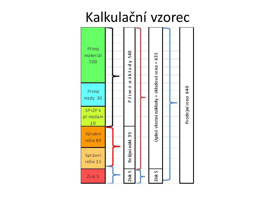 Kalkulační vzorec