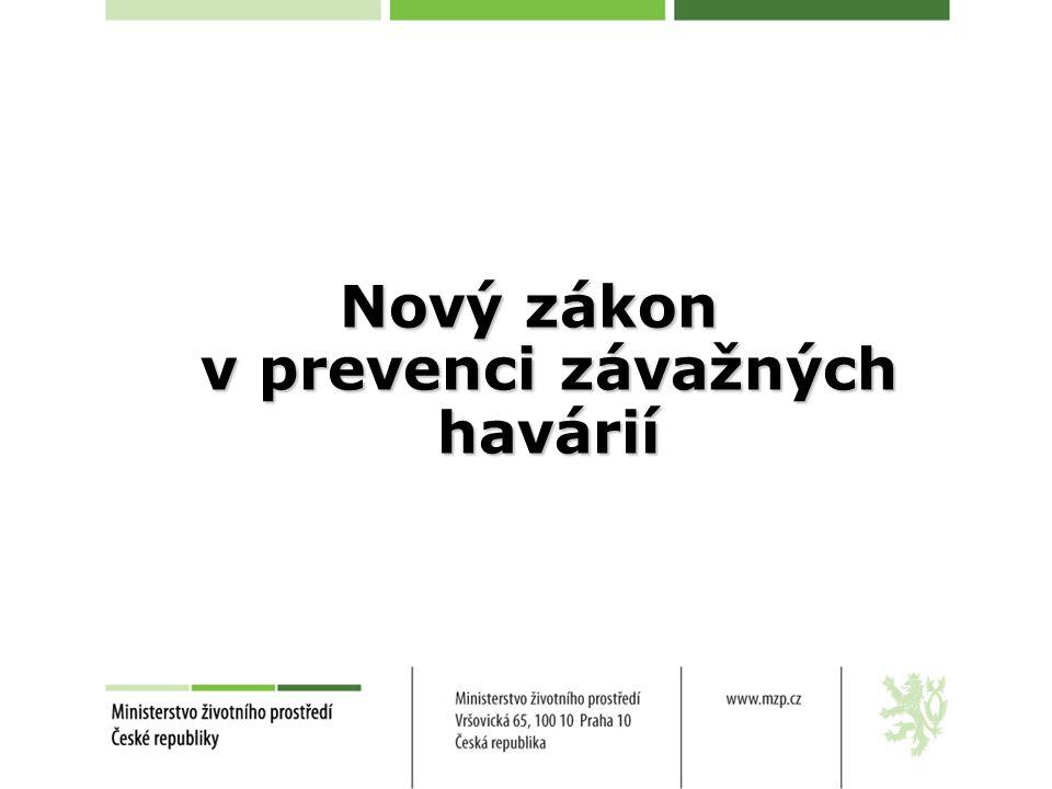 Státní správa na úseku prevence závažných havárií Ústředním správním úřadem při výkonu státní správy na úseku prevence závažných havárií je Ministerstvo životního prostředí.