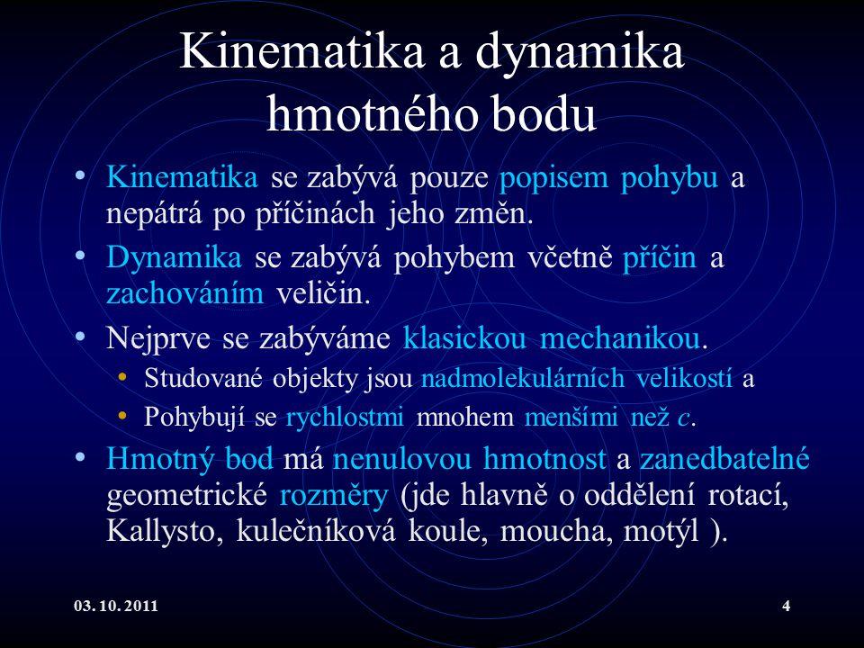 03.10. 201195 Dynamika rotačních pohybů IV Předpokládejme konstantní moment síly.