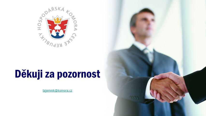 Děkuji za pozornost tajemnik@komora.cz