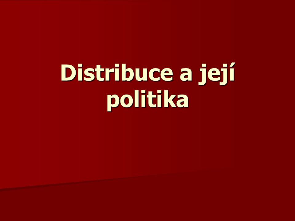 Distribuce a její politika