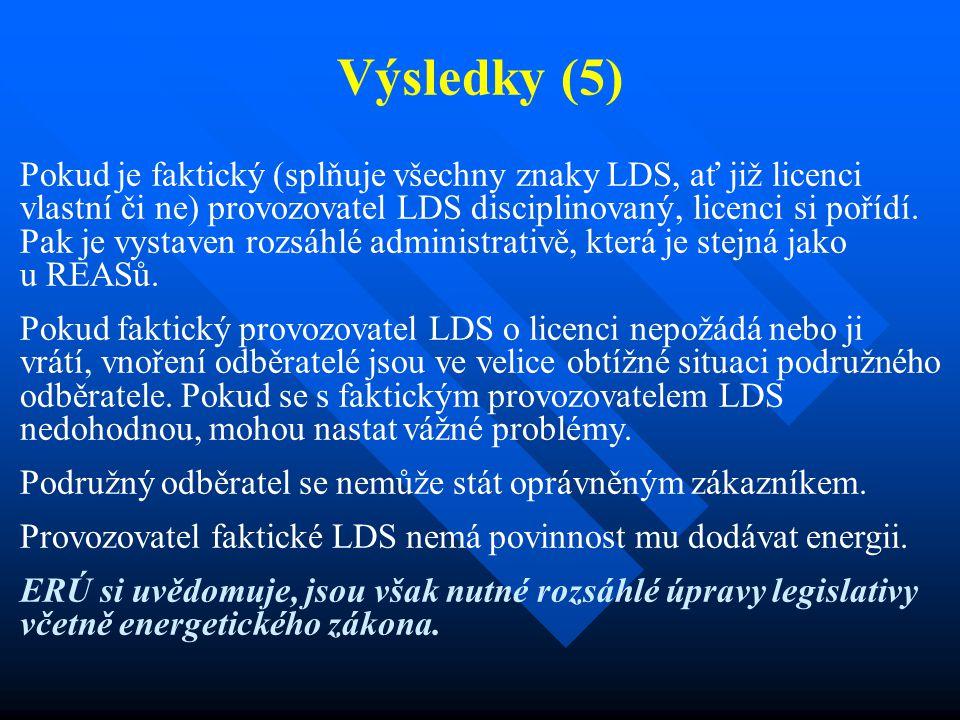 Výsledky (5) Pokud je faktický (splňuje všechny znaky LDS, ať již licenci vlastní či ne) provozovatel LDS disciplinovaný, licenci si pořídí. Pak je vy