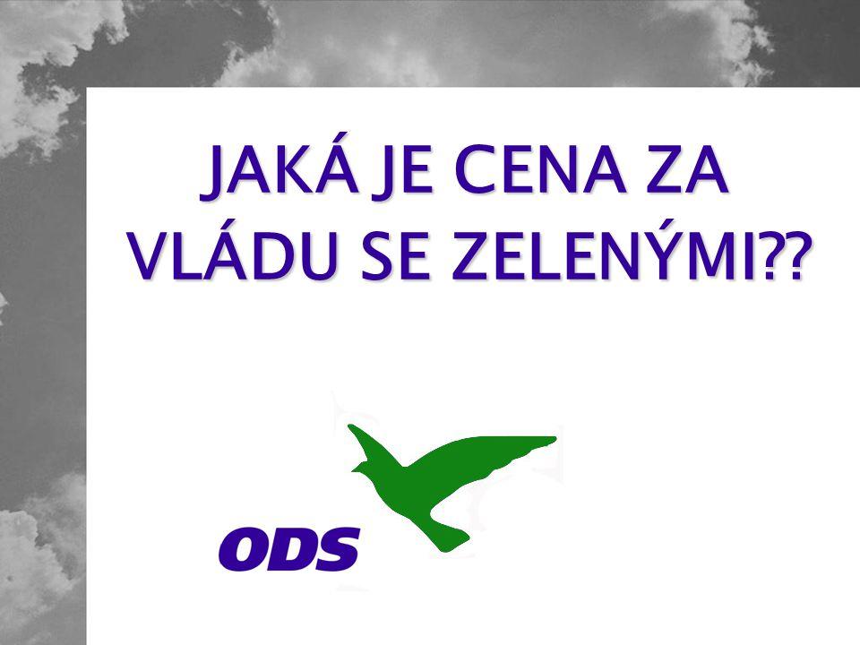 Přestože to byly vlády ODS, které v oblasti životního prostředí dosáhly hmatatelných a konkrétních výsledků, vzdala se ODS tématu životního prostředí.