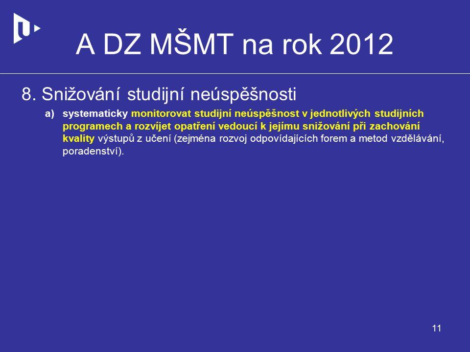 A DZ MŠMT na rok 2012 8.