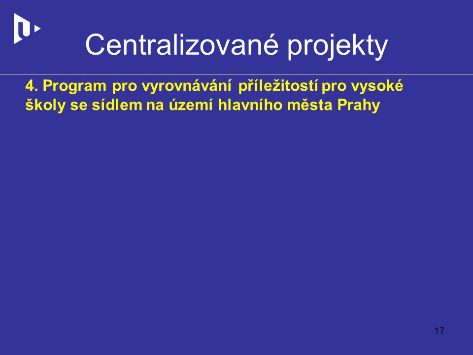 Centralizované projekty 4.