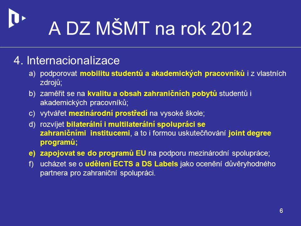 A DZ MŠMT na rok 2012 4.