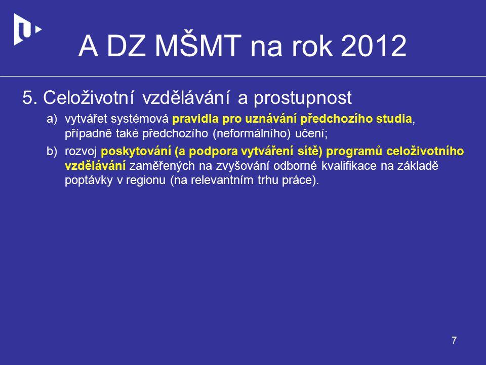 A DZ MŠMT na rok 2012 5.