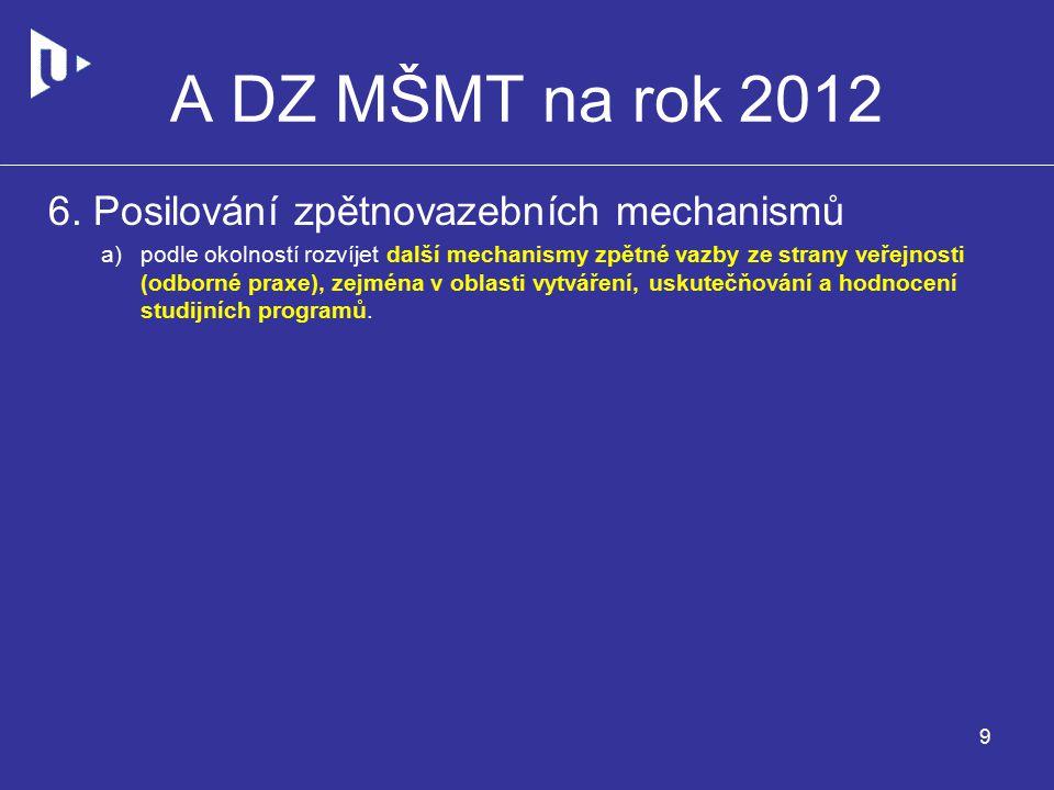 A DZ MŠMT na rok 2012 6.
