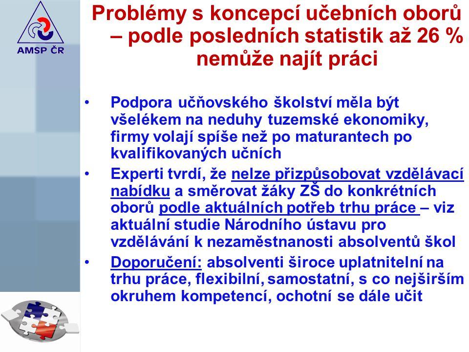 Regionální nesounáležitost firmy nedostanou zakázky ve svém regionu, ale u jiného krajského úřadu, přesun velkých hráčů na malé zakázky (zejména stavebnictví a navazující obory) česká závist
