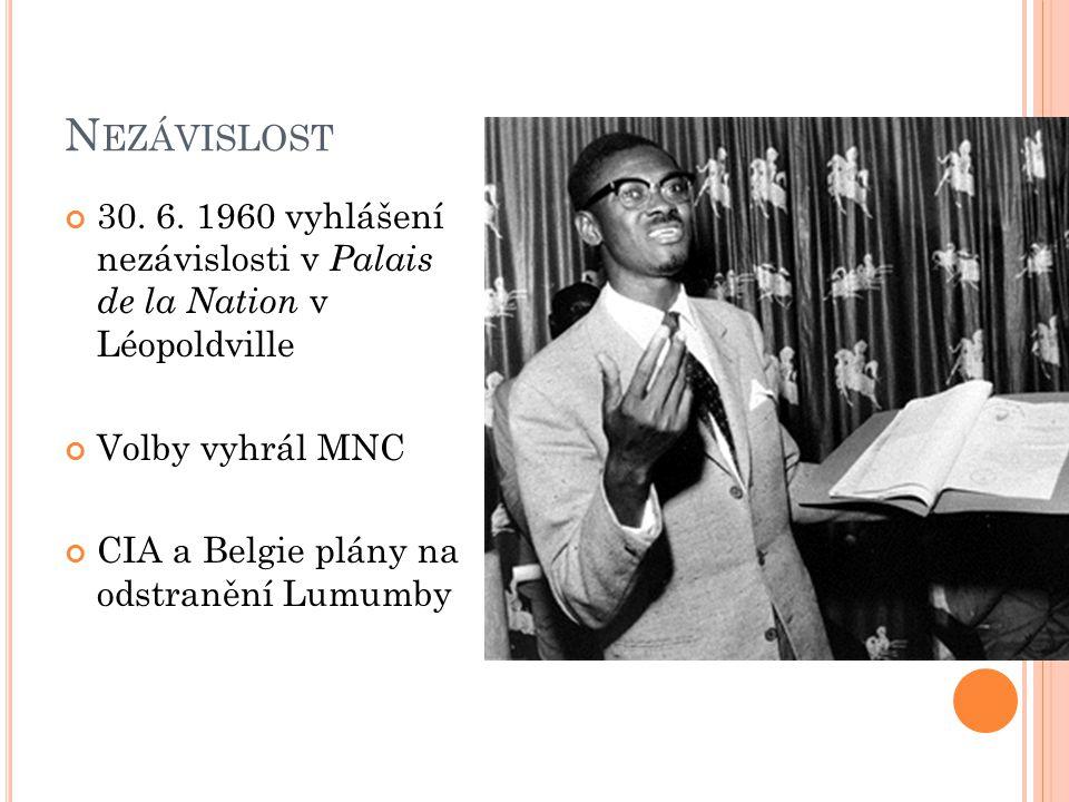 L AURENT K ABILA Vedl z východu země AFDL za podpory Rwandy Rwandská vlastenecká fronta Kabila – nový diktátor Mobutuismus bez Mobutua Neusiloval o získání důvěry občanů