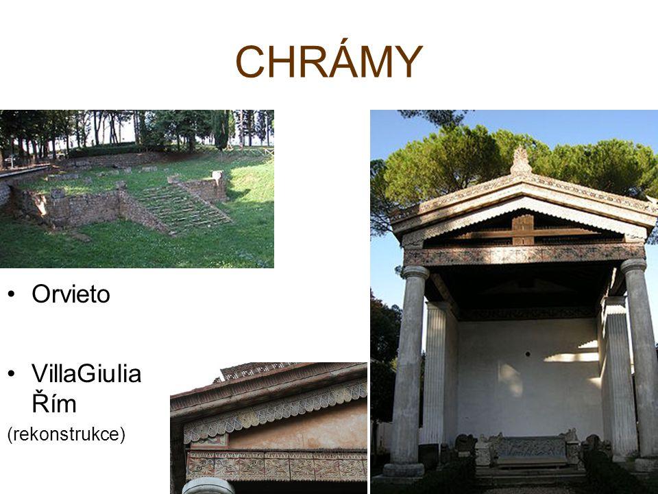 Orvieto VillaGiulia Řím (rekonstrukce)