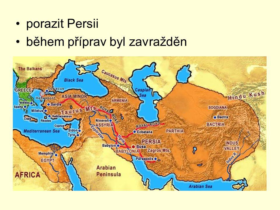 porazit Persii během příprav byl zavražděn