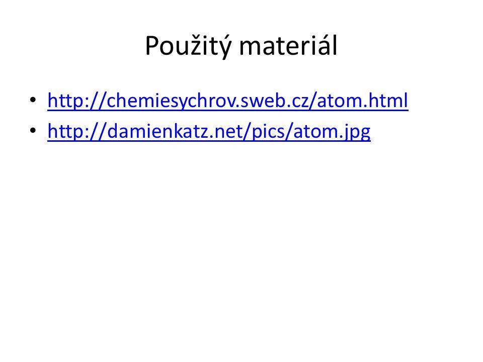 Použitý materiál http://chemiesychrov.sweb.cz/atom.html http://damienkatz.net/pics/atom.jpg
