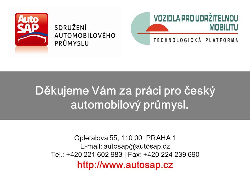 Opletalova 55, 110 00 PRAHA 1 E-mail: autosap@autosap.cz Tel.: +420 221 602 983 | Fax: +420 224 239 690 http://www.autosap.cz Děkujeme Vám za práci pro český automobilový průmysl.