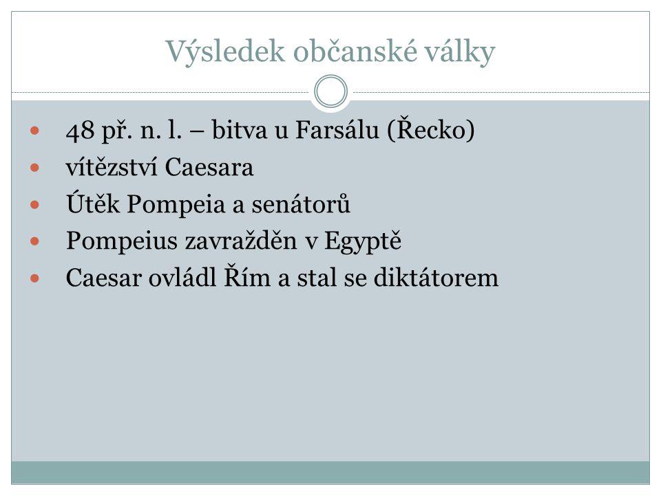 Výsledek občanské války 48 př. n. l.