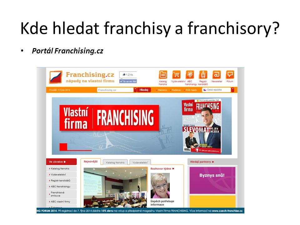 Kde hledat franchisy a franchisory? Portál Franchising.cz