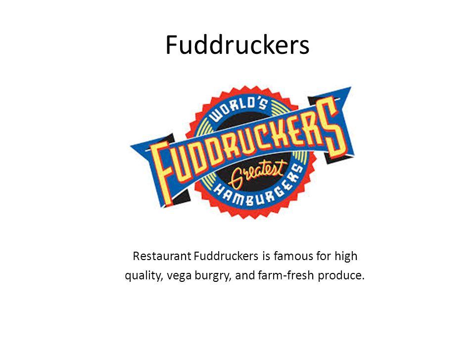 Fuddruckers Restaurant Fuddruckers is famous for high quality, vega burgry, and farm-fresh produce.