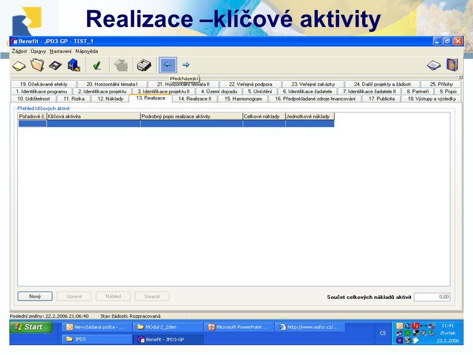 10.12. 2007, Havlíčkův BrodŠkolení projektových manažerů Realizace –klíčové aktivity