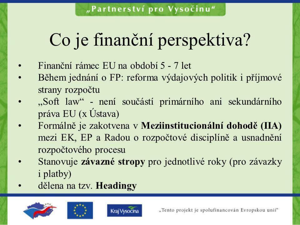 """Co je finanční perspektiva? Finanční rámec EU na období 5 - 7 let Během jednání o FP: reforma výdajových politik i příjmové strany rozpočtu """"Soft law"""""""