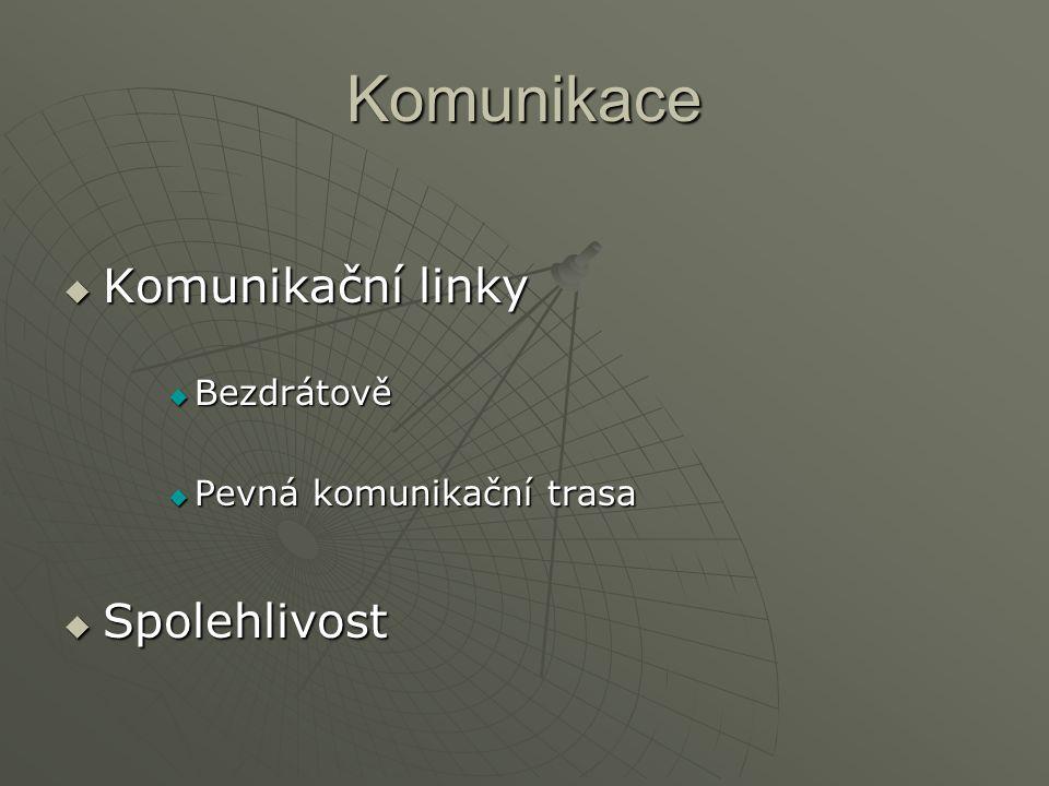 Komunikace  Komunikační linky  Bezdrátově  Pevná komunikační trasa  Spolehlivost