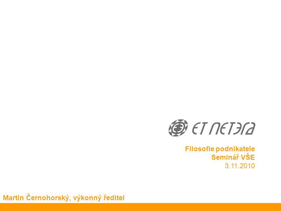© 2010 ET NETERA a.s. ET NETERA a.s. Děláme (dobře) weby… … a všimli si toho doma i za hranicemi