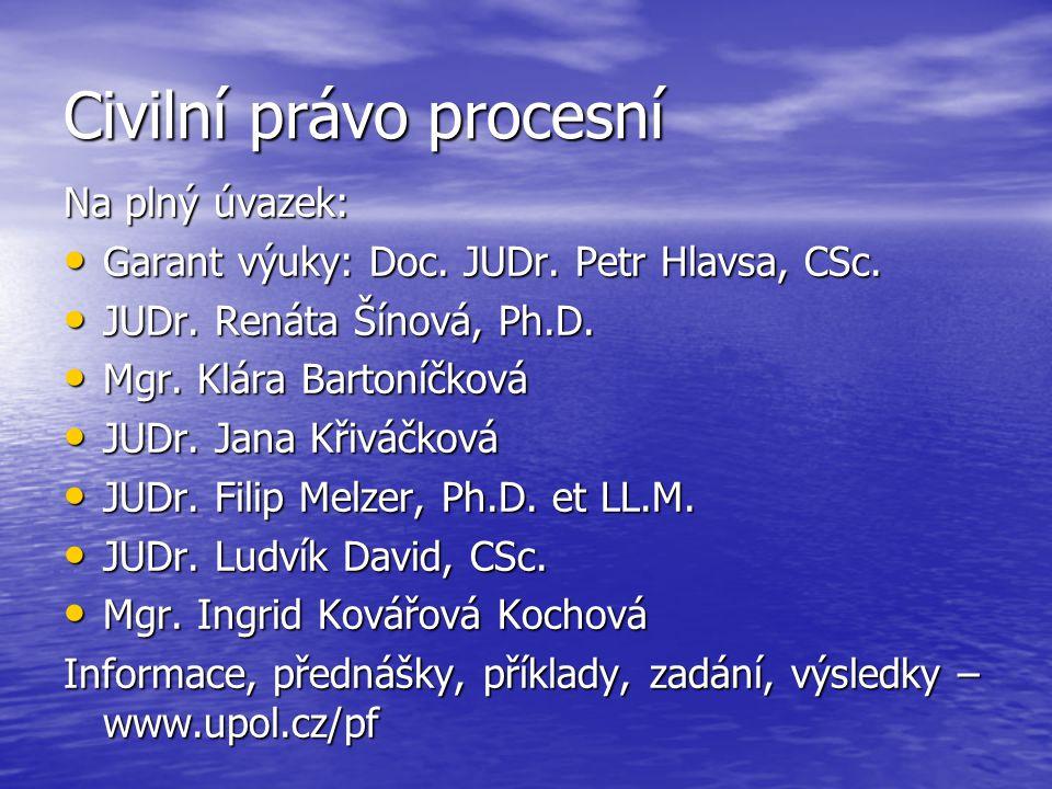 Druhy civilního procesu 2.