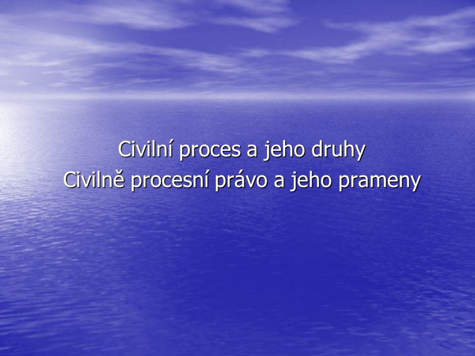 Pojem civilního procesu Proces – postup.Proces – postup.