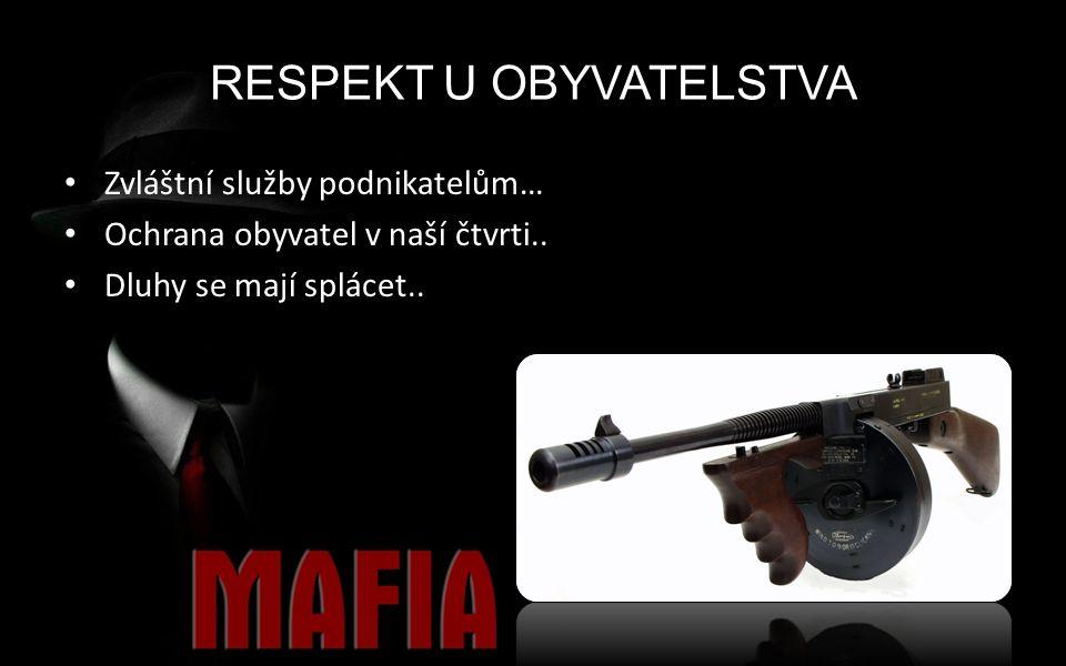 RESPEKT U OBYVATELSTVA Zvláštní služby podnikatelům… Ochrana obyvatel v naší čtvrti..