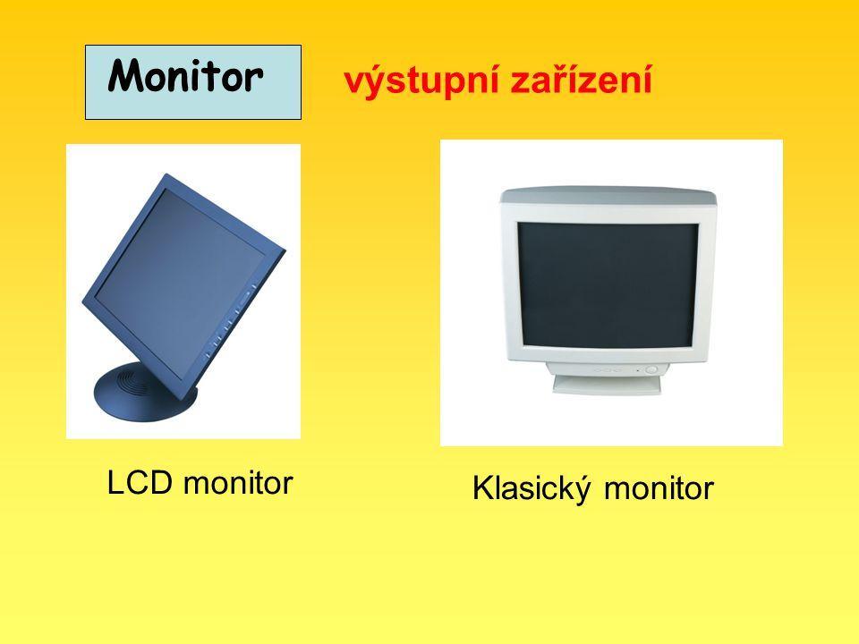 Monitory hodnotíme podle různých kategorií: Podle velikosti úhlopříčky 14 17 15 Podle rozlišení (počet bodů na šířku krát počet bodů na výšku) 640x480 800x600 1024x768