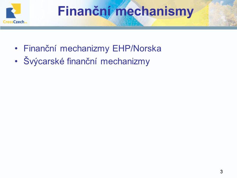 3 Finanční mechanismy Finanční mechanizmy EHP/Norska Švýcarské finanční mechanizmy