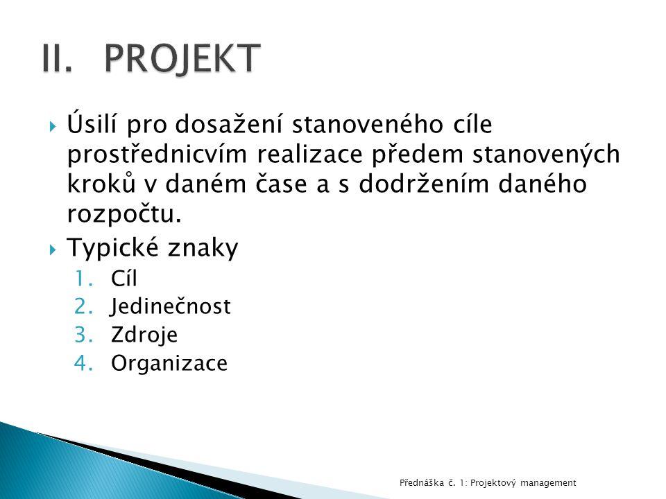  SMART  S_pecific  M_easurable  A_ligned (achievable)  R_ealistic  T_ime bounded Přednáška č.