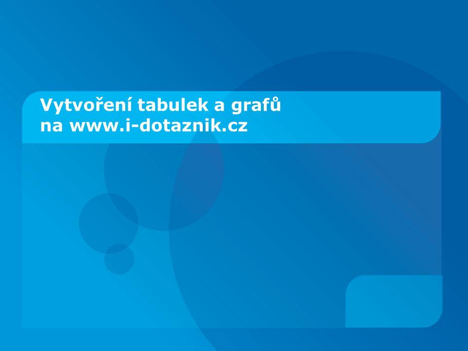 Vytvoření tabulek a grafů na www.i-dotaznik.cz