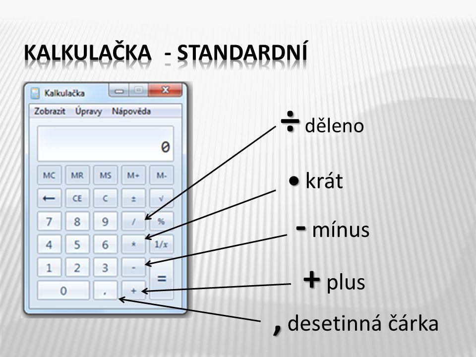 standardní programátorská vědecká