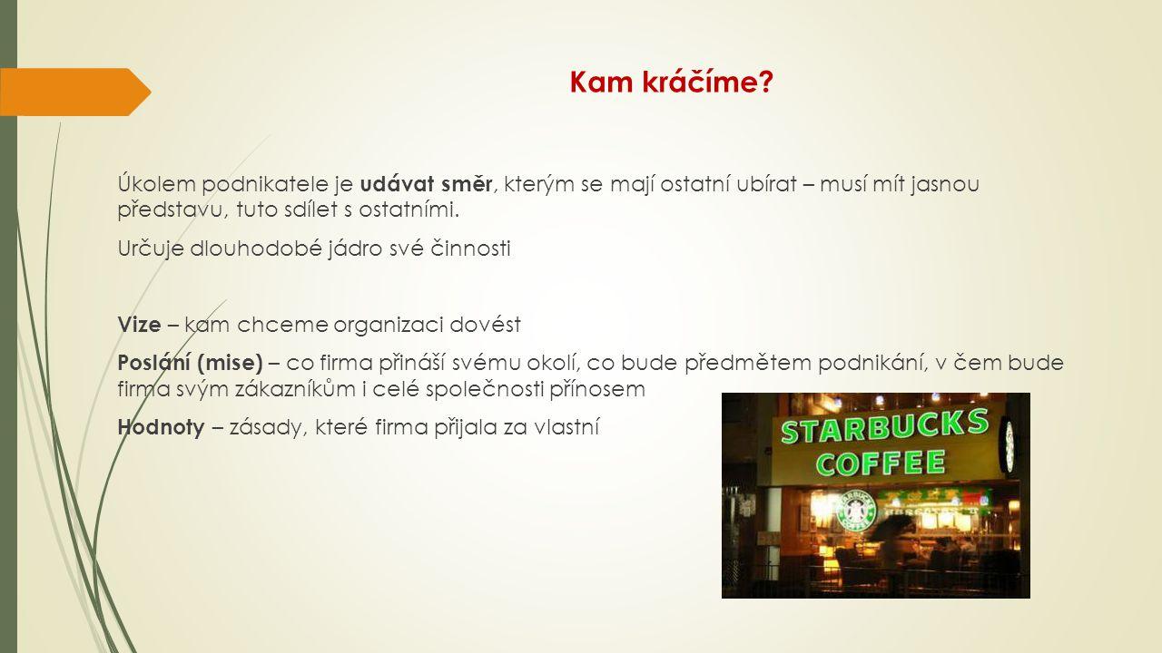 Starbucks – co je vize, co je poslání, co je hodnota.