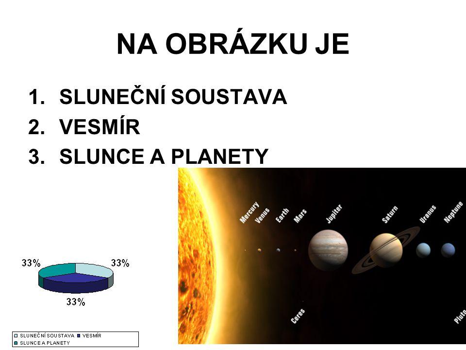 NA OBRÁZKU JE 1.SLUNEČNÍ SOUSTAVA 2.VESMÍR 3.SLUNCE A PLANETY