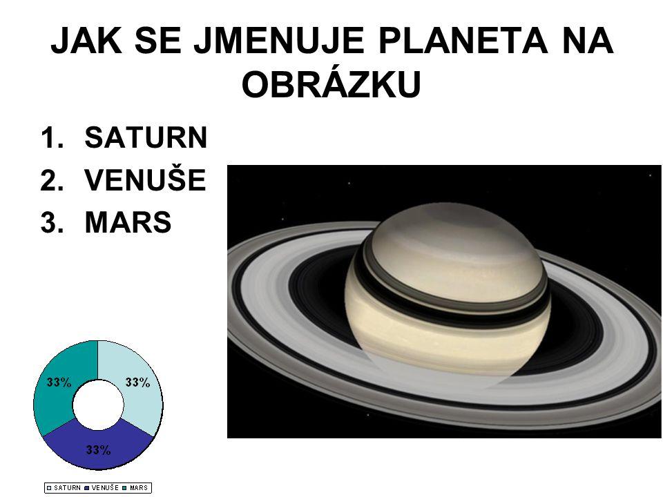 JAK SE JMENUJE PLANETA NA OBRÁZKU 1.SATURN 2.VENUŠE 3.MARS