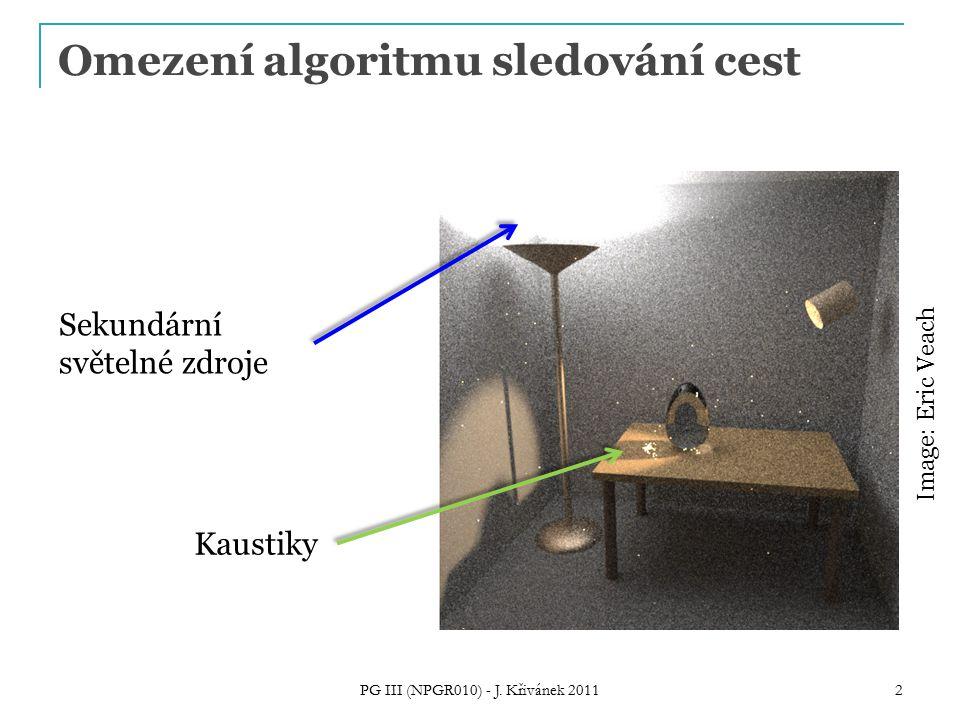 Omezení algoritmu sledování cest PG III (NPGR010) - J.